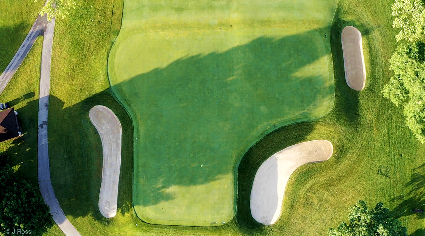 The 2nd green is divided into 3 very distinct sections