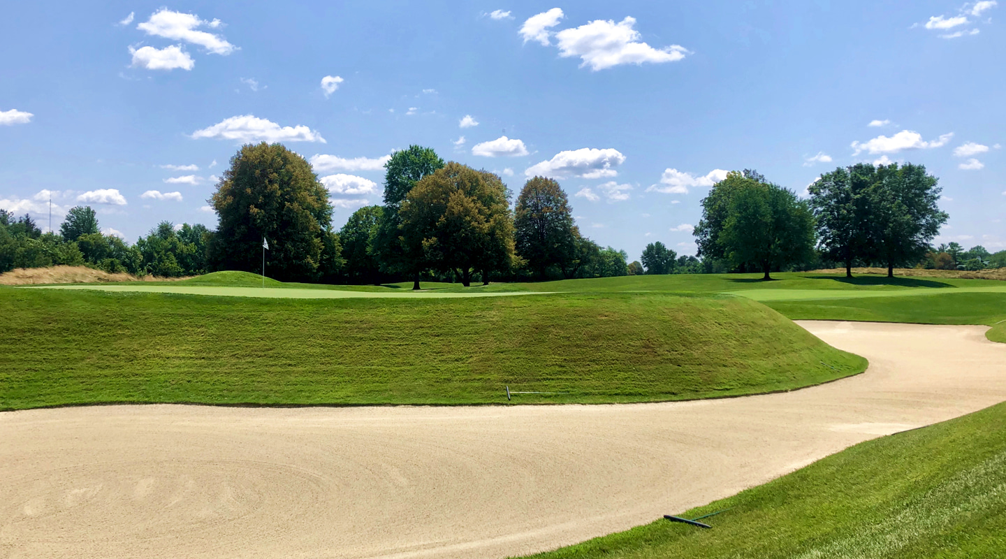 The scale of the green on par-5 5th is  gloriously bold