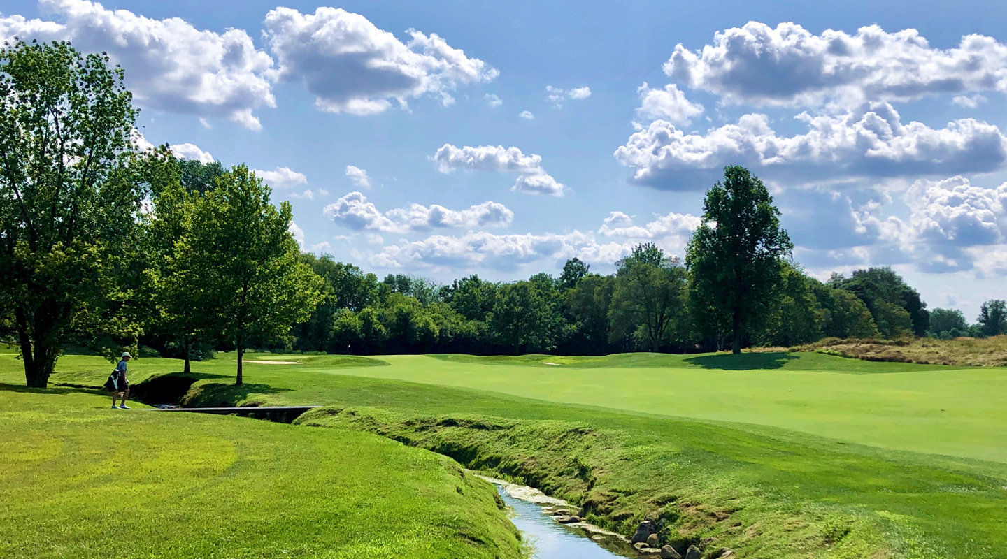 Players can cut off as much of the creek as they can chew on the 14th