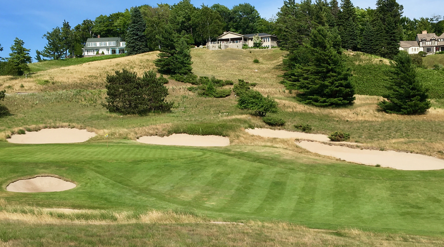 The final green is set at the base of the hill in true MacKenzie-Maxwell style