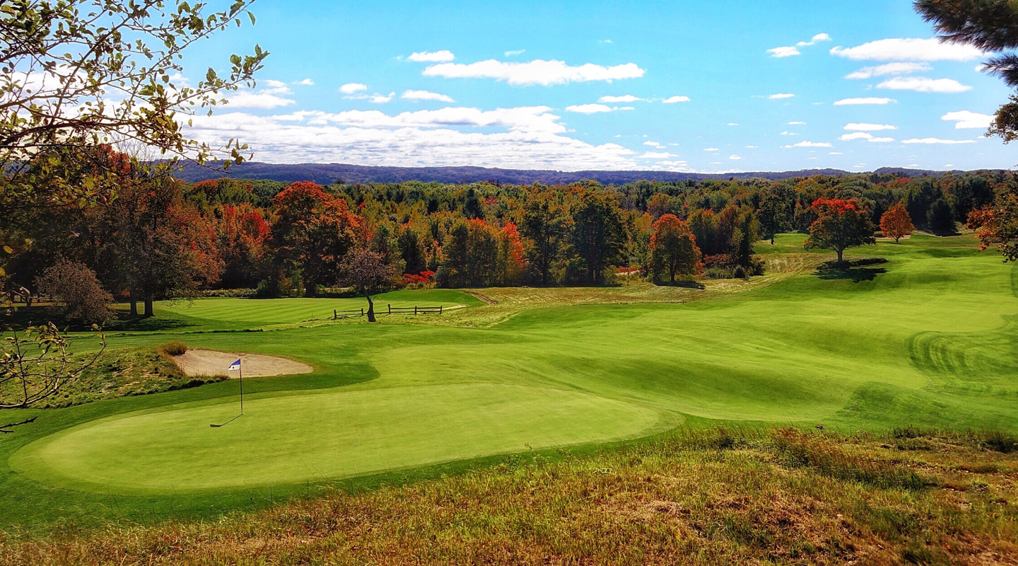 The look back down the 8th provides one of the best views on the course
