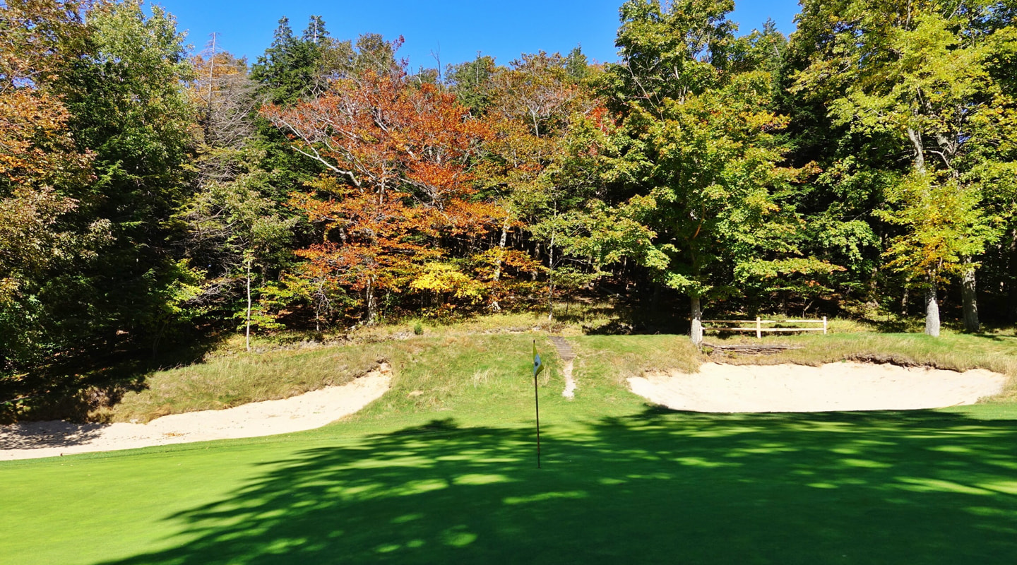 Finding the right tier of the 11th green is critical