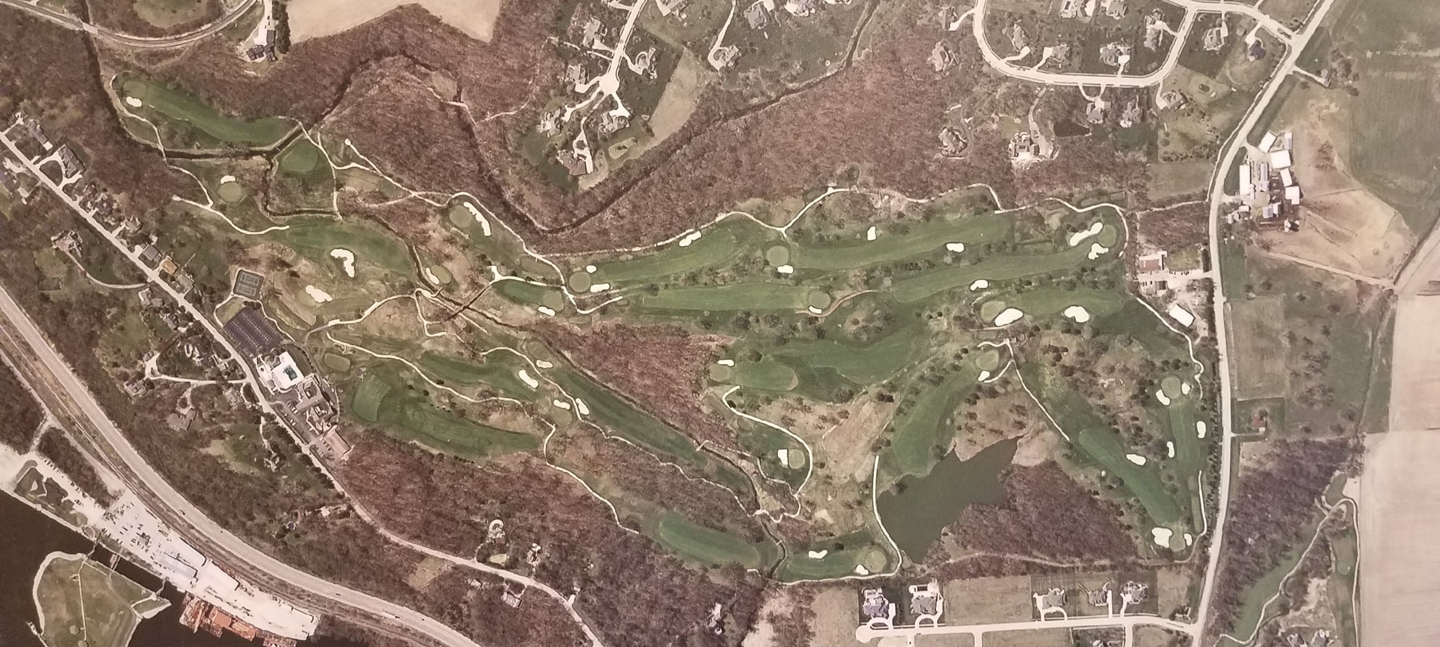 The course after renovation with scale returned
