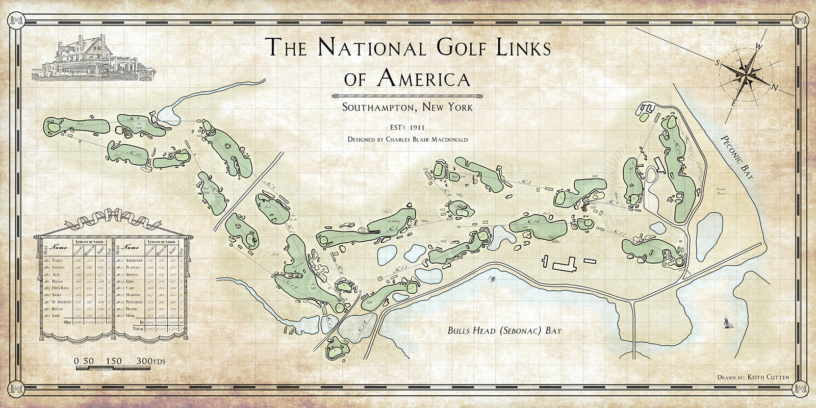 Course map of NGLA - Credit: Keith Cutten