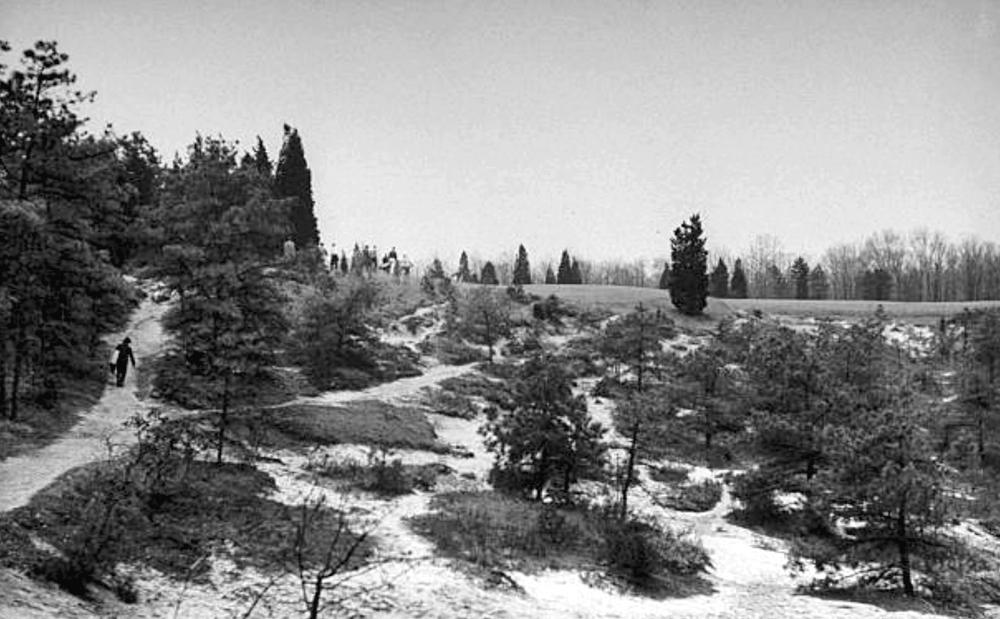 Tee to fairway walks at Pine Valley are often an adventure