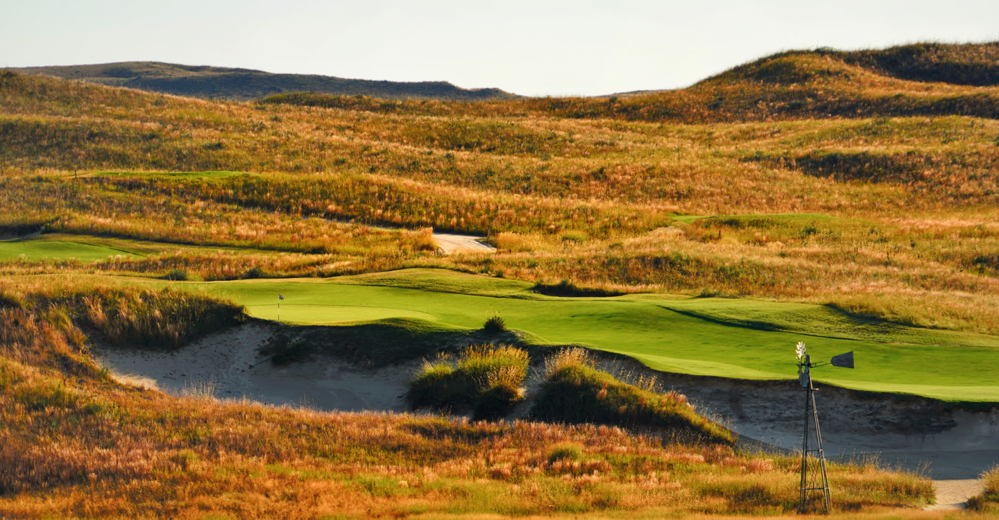 The 18th climbs a considerable distance up the hill