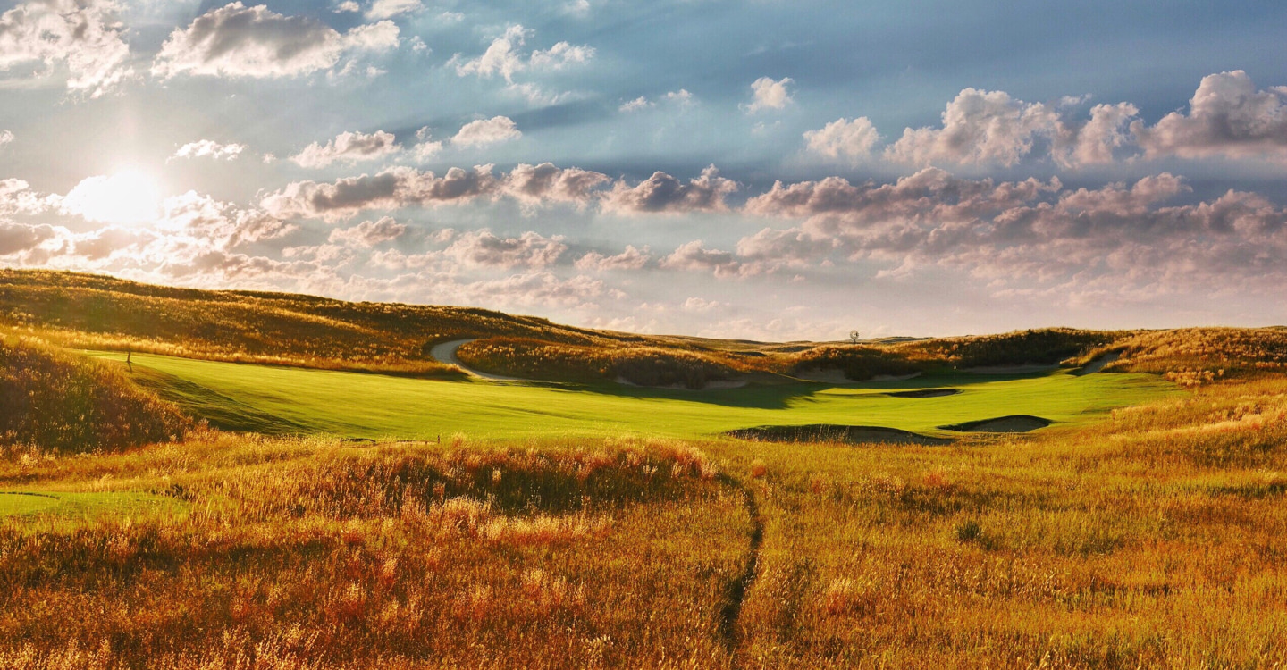 Players must consider the pin when choosing a route from the tee