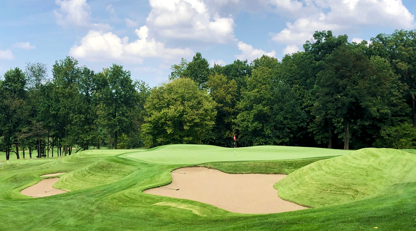 The green and surrounds at the 6th are among the most artistic Macdonald ever built
