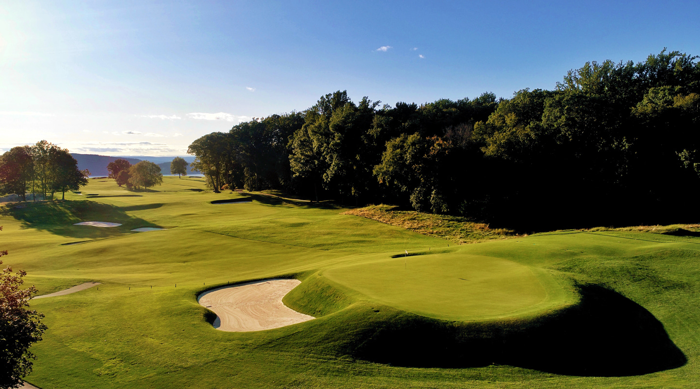 The 13th green complex features some  of the most interesting contouring on the course