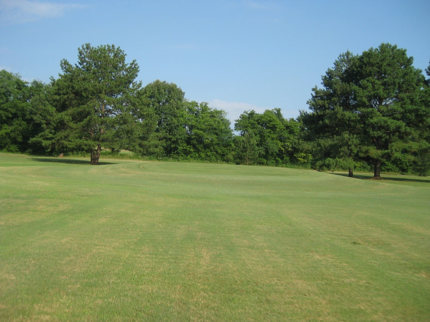 The 1st hole before construction