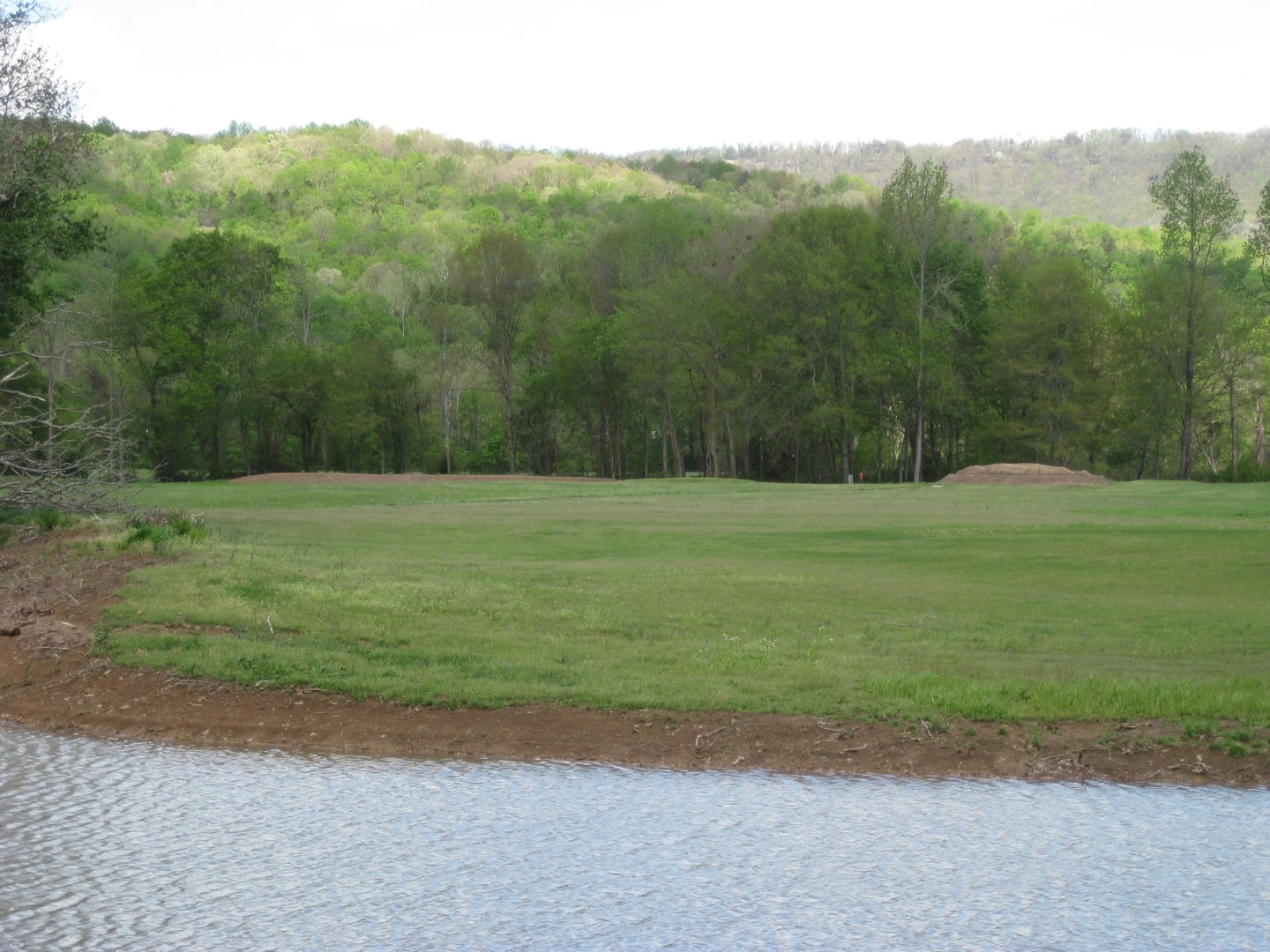The 4th hole before construction