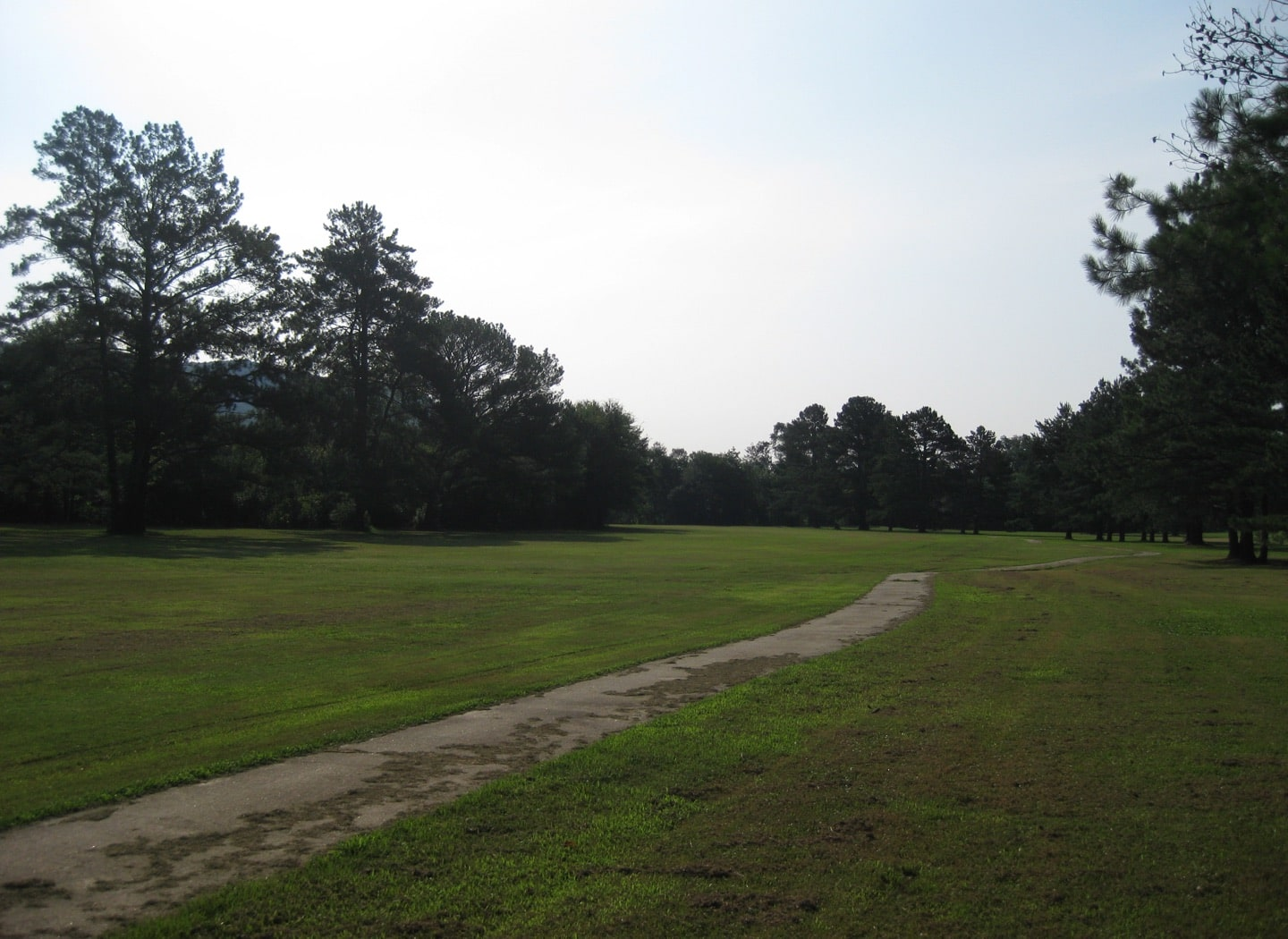 The 6th hole before construction