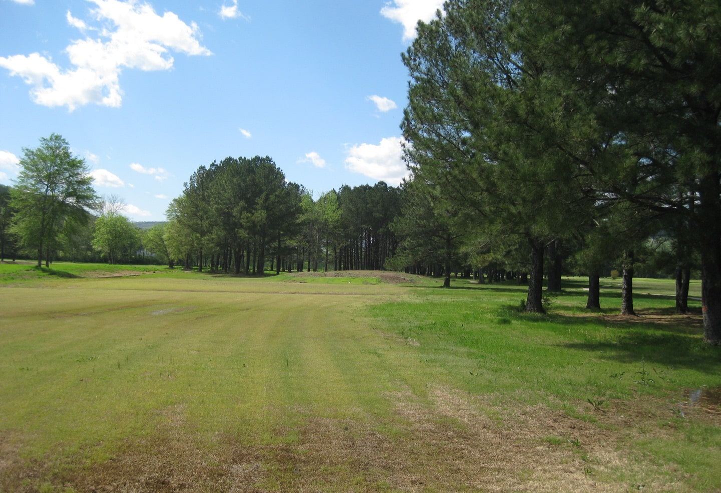 The 7th hole before construction