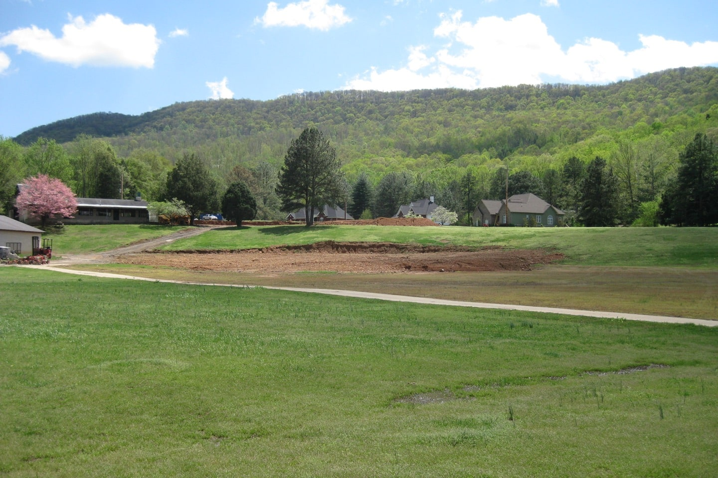 The 9th hole before construction